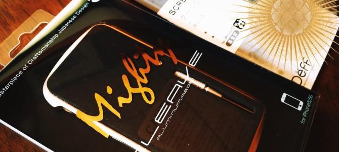 iPhone5sにゴールデンボンバーなバンパーを付ける